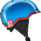 Salomon Grom Helmet junior (Blue/Red)-0